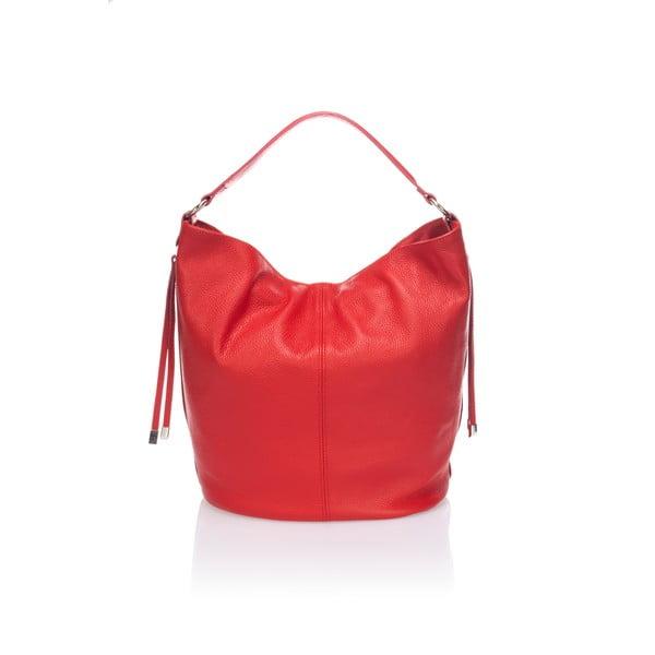 Kožená kabelka Krole Karla, červená