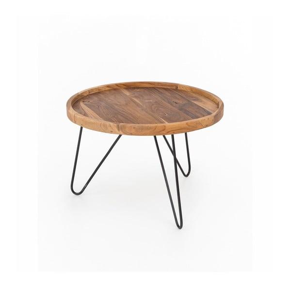Konferenční stolek Index s železnými nohami WOOX LIVING Patricia, ⌀65cm