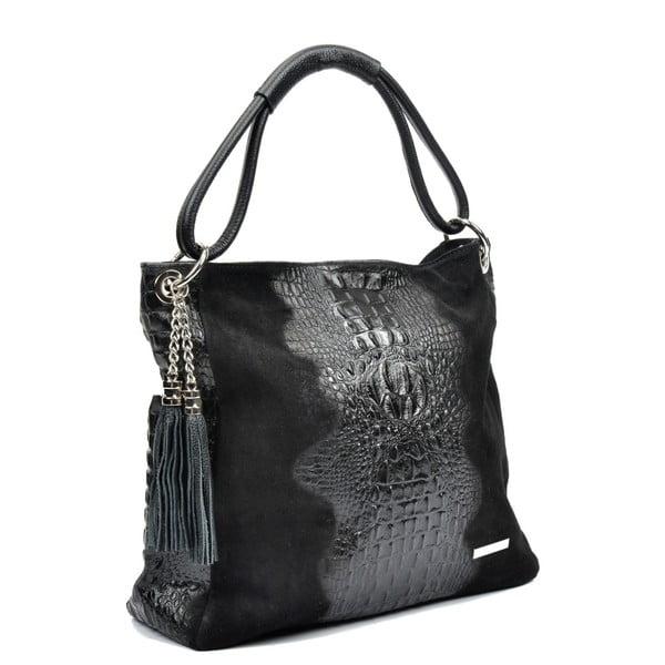 Černá kožená kabelka Luisa Vannini Zunna