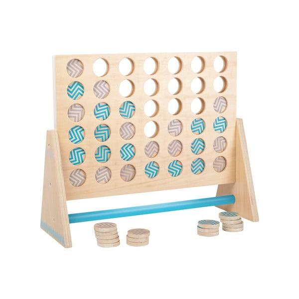 Drewniana gra w kółko i krzyżyk Legler Four in a Row XXL