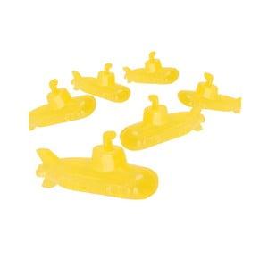 Sada 6 žlutých kostek na led Kikkerland Submarine