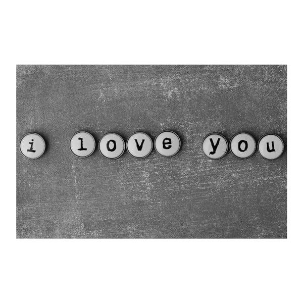 Obraz Black&White ILY,45x70cm