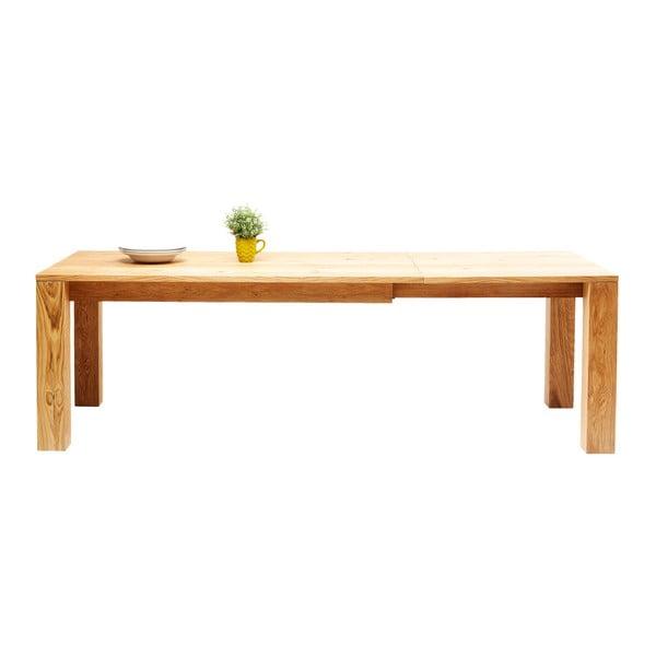 Rozkládací jídelní stůl z dubového dřeva Kare Design Ceena, 240 x 90 cm
