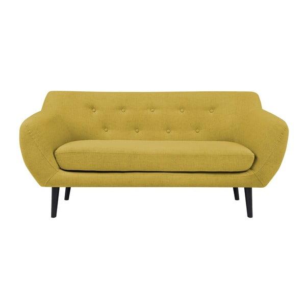 Piemont citromsárga kétszemélyes kanapé - Mazzini Sofas