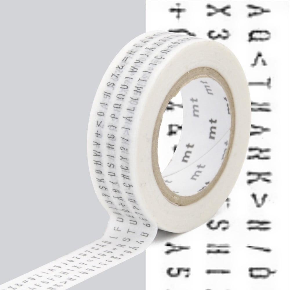 Černobílá washi páska MT Masking Tape Lettres