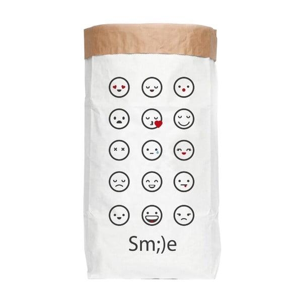 Úložný pytel z recyklovaného papíru Really Nice Things Just Smile
