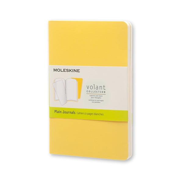 Żółty notatnik Moleskine Volant, 80 stron