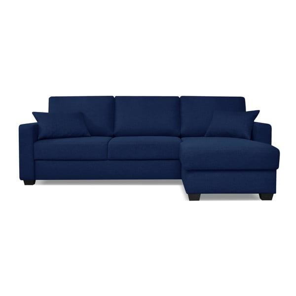 Modrá rozkládací pohovka s lenoškou Cosmopolitan design Milano