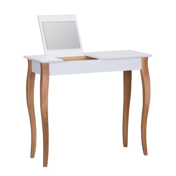 Dressing Table fehér fésülködőasztal tükörrel, hosszúság 85 cm - Ragaba