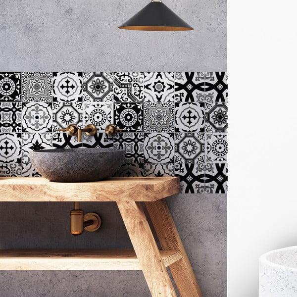Sada 16 dekorativních samolepek na stěnu Ambiance Modern, 15 x 15 cm