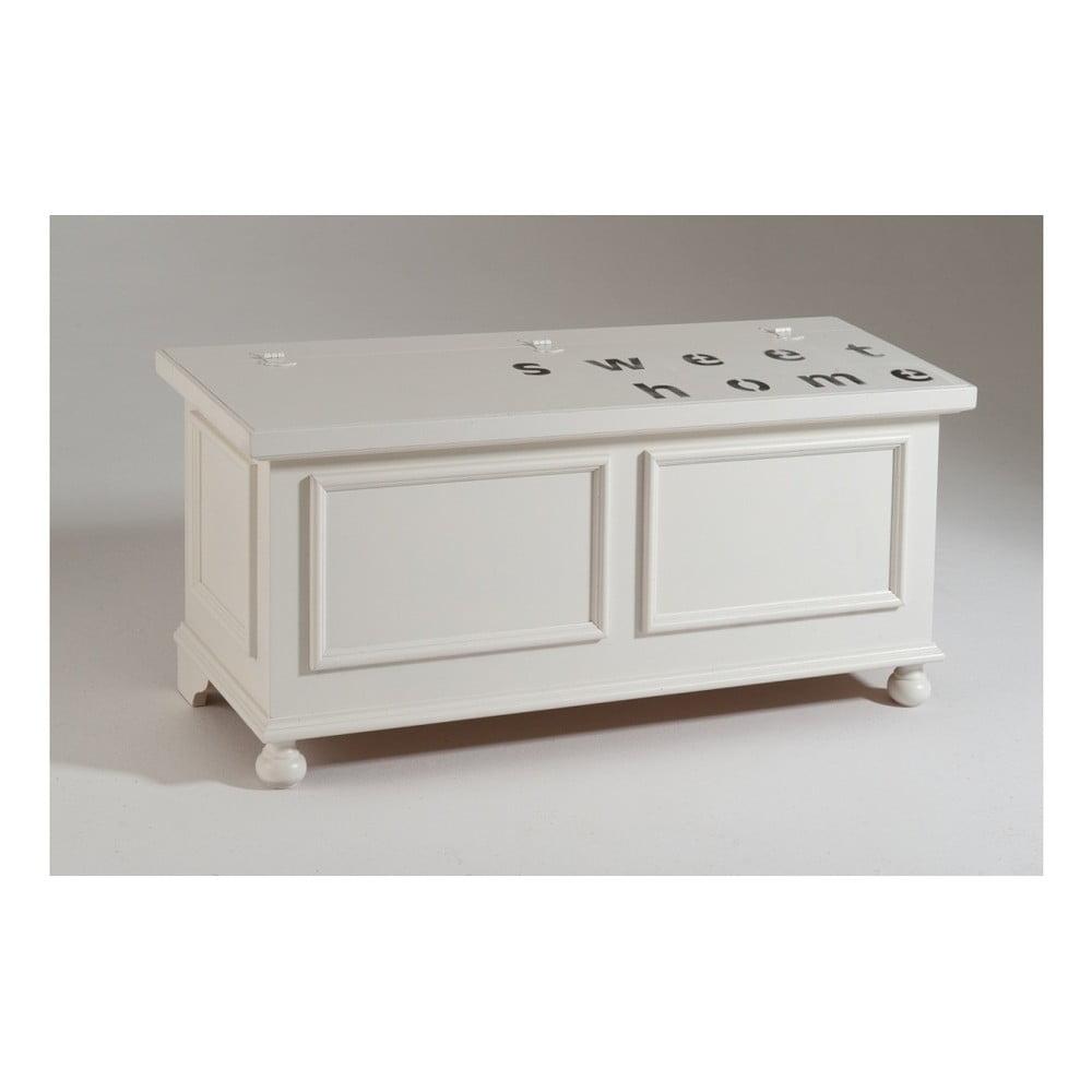 Bílá dřevěná truhla Castagnetti Home