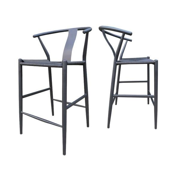 Černá barová židle Canett Alto