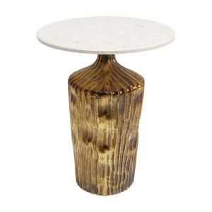 Odkládací stolek s přírodní mramorovou deskou Kare Design Riffle, ⌀ 46 cm