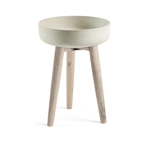 Béžový odkladací stolík La Forma Stahl,⌀39 cm