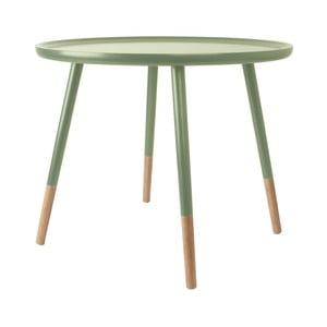 Zelený dřevěný příruční stolek Leitmotiv Graceful