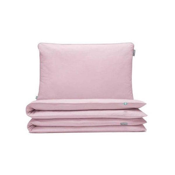 Világos rózsaszín gyerek pamut ágyneműhuzat, 90x120cm - Mumla