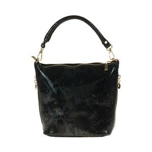 Černá kožená kabelka Giulia Bags Misty Freya