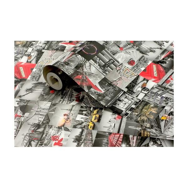 Role tapety Město, 53x1005 cm