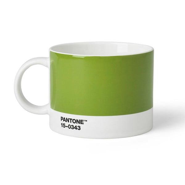 Zelený hrnek na čaj Pantone 15-0343, 475 ml
