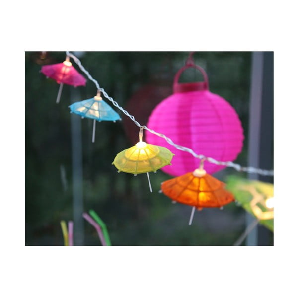 Pestrobarevná svítící dekorace Paraple