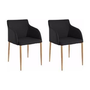 Sada 2 černých židlí Støraa Nimbus