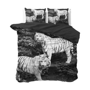 Lenjerie de pat din micropercal Sleeptime Tigers, 240 x 220 cm