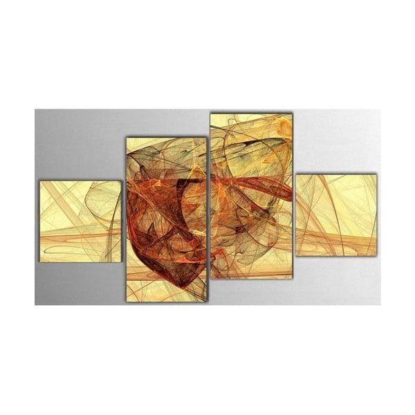 4dílný obraz Yellow Art, 50x100 cm
