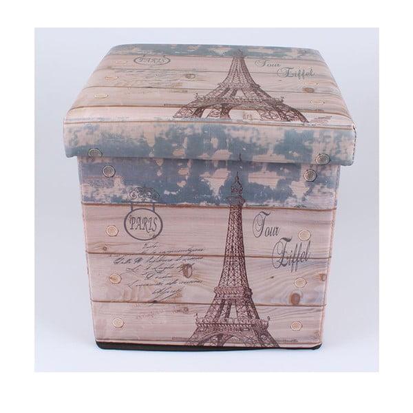 Taburetka na sezení s úložným prostorem Eiffel