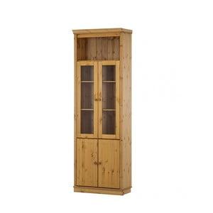 Vitrină cu 2 uși din lemn de pin Støraa Annabelle, culoare naturală
