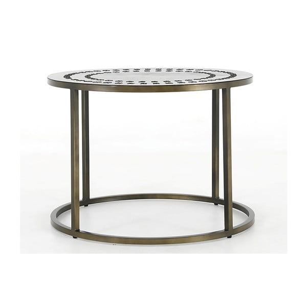 Żelazny stolik Canett Stitch, ø 70 cm