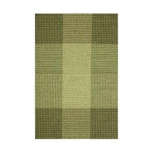 Zelený ručně tkaný vlněný koberec Linie Design Genova, 170x240cm