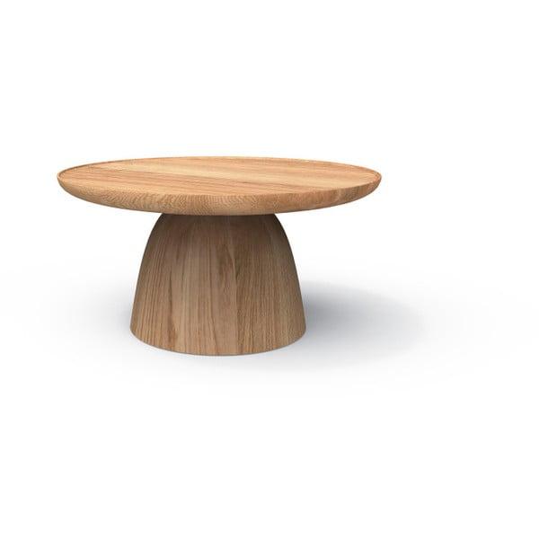 Odkládací stolek z masivního dubového dřeva Javorina Hrib 70