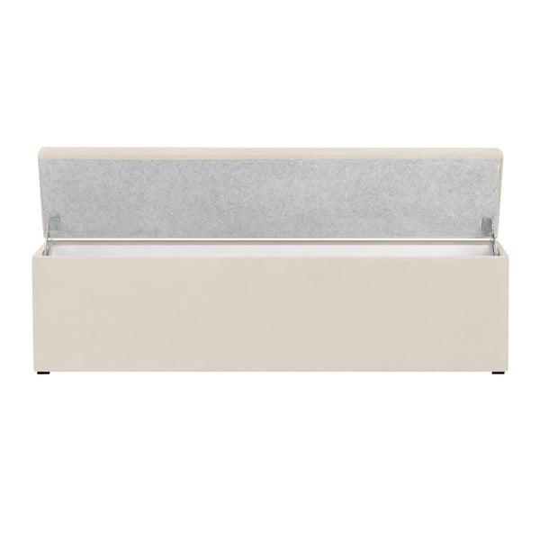 Krémový otoman s úložným prostorem Windsor & Co Sofas Nova, 180 x 47 cm
