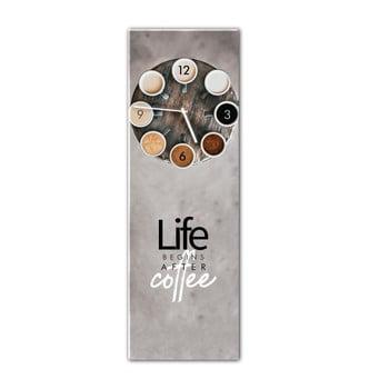 Ceas de perete Styler Glassclock Coffee Love 20 x 60 cm