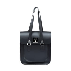 Velká černo-modrá kožená kabelka Brix + Bailey
