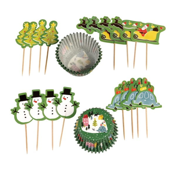 Zestaw do pieczenia muffinów z motywem świątecznym Rex London Wonderland