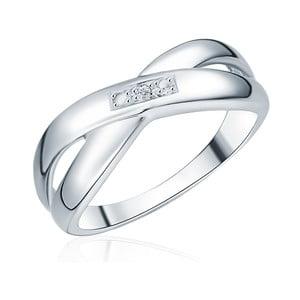 Stříbrný prsten s pravým diamantem Tess Diamonds Laura, vel. 58