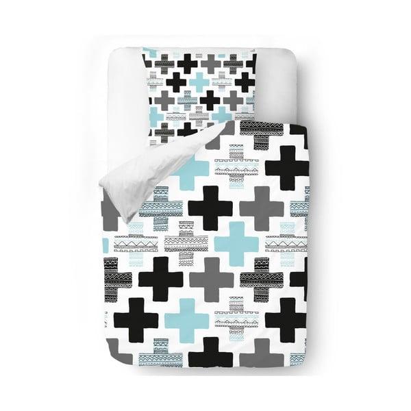 Povlečení Blue Crosses, 140x200 cm