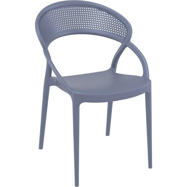 Set 4 scaune de grădină Resol Sunset, gri închis