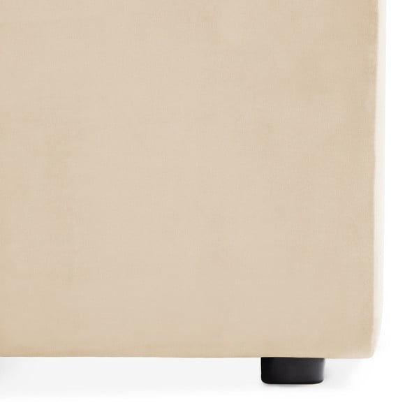 Pískově béžová dvoumístná modulová pohovka s podnožkou Vivonita Velvet Cube