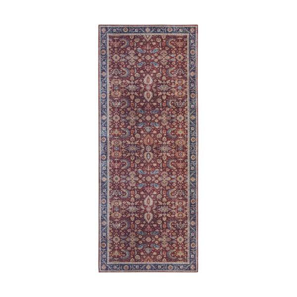 Ciemnoczerwony chodnik Nouristan Vivana, 80x200 cm