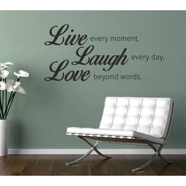 Samolepka na stěnu Wallvinil Live Laugh Love