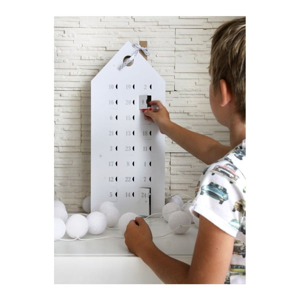 Calendar advent cu detalii argintii Unlimited Design for kids