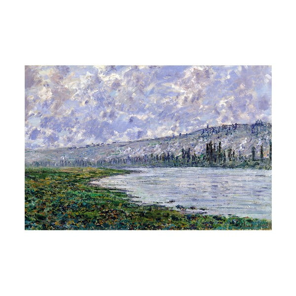 Obraz Claude Monet - The Seine at Vétheuil, 90x60 cm