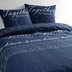 Lenjerie de pat Ekkelboom Yvette, albastră, 240 x 240 cm