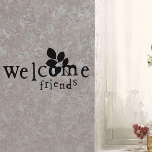 Dekorativní samolepka Welcome Friends, 30x60 cm