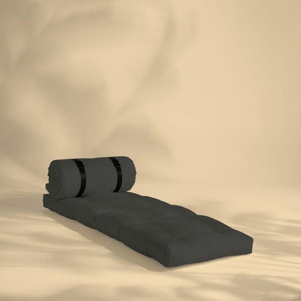 Tmavě šedé rozkládací křesílko vhodné do exteriéru Karup Buckle Up
