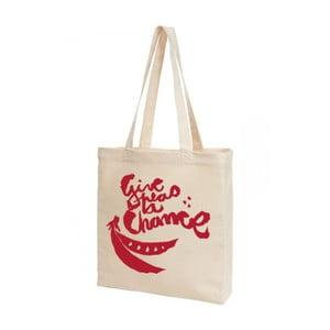 Plátěná taška KlokArt Give Peas