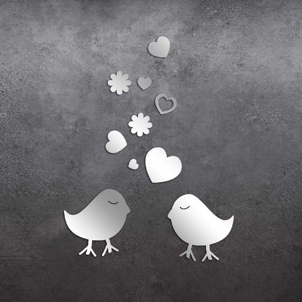 Dekorativní zrcadlo Birds Love