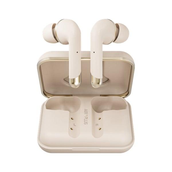 Bezdrátová sluchátka ve zlaté barvě Happy Plugs Air 1 Plus In-Ear
